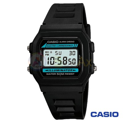 Casio Collection watch W-86-1VQES unisex black quartz digital resin