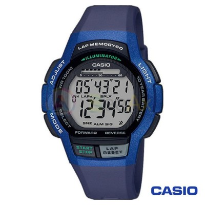 Orologio Casio Collection WS-1000H-2AVEF uomo resina blu digitale quarzo