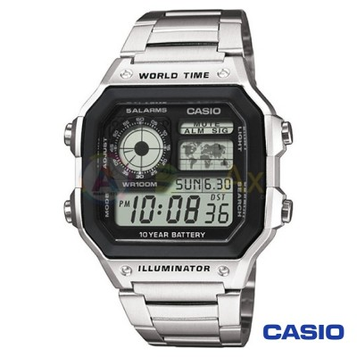 Casio Collection watch AE-1200WHD-1AVEF man yellow quartz digital Stainlee steel