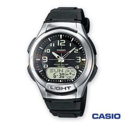 Orologio Casio analogico digitale Illuminator AQ-180W-1BVES uomo acciaio resina