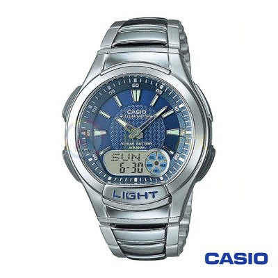 Casio watch digital analogue illuminator Telememo AQ-180WD-2AV man steel