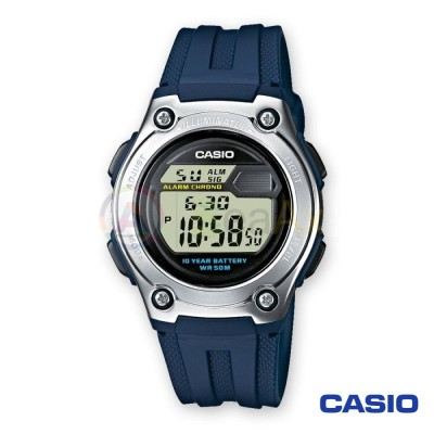 Casio Collection watch W-211-2AVES man quartz digital steel resin