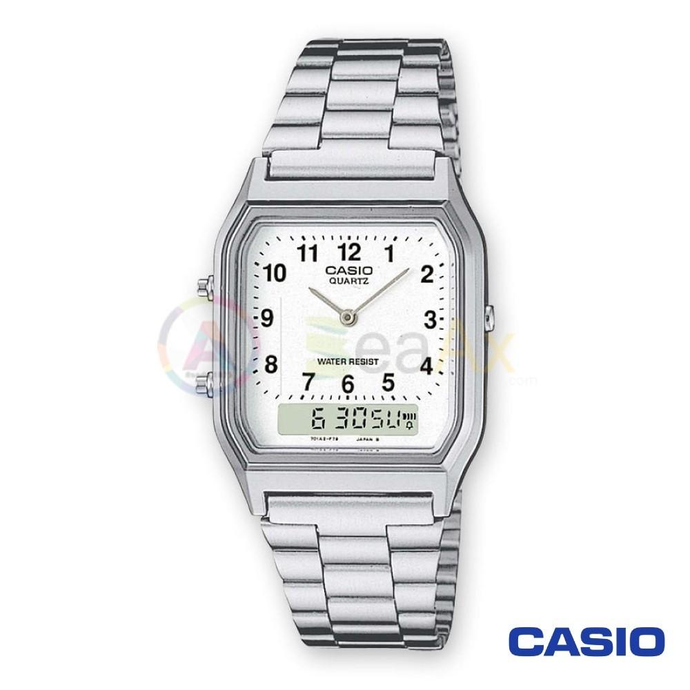 metà fuori 78a76 73e97 Orologio Casio Vintage AQ-230A-7BMQYES analogico digitale acciaio u...