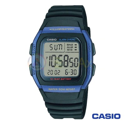 Orologio Casio Collection W-96-1AVES uomo resina digitale quarzo nero