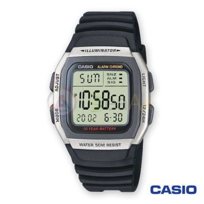 Casio Collection watch W-96H-1AVES man digital resin quartz black