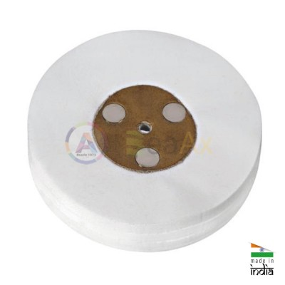 Spazzola disco per la lucidatura in tela 50 lamelle ø 130 mm con centro in pelle