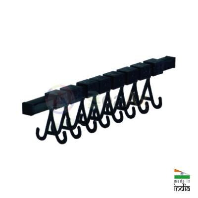 Ultrasonic rack 36 cm with 8 plastic double hooks