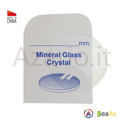 Round flat mineral glass thickness 1.30 mm ø sizes n° 301 to 350 / 30.1- 35 mm