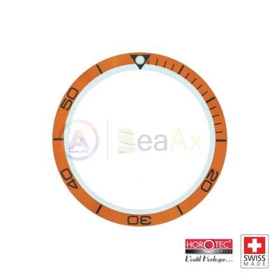 Inserto alluminio mascherina ghiera arancione Omega Planet Ocean Horotec Swiss MSA-79SP02