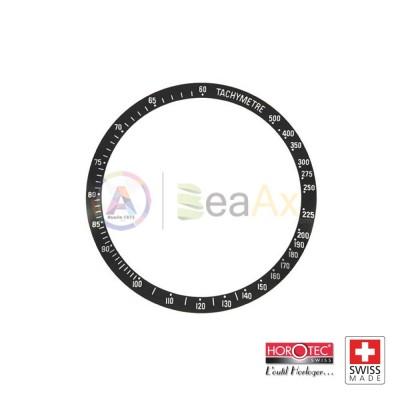 Inserto mascherina ghiera nera indici argento Omega Speedmaster Horotec Swiss MSA-79SP01