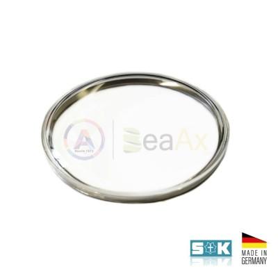 Plastic glass Omega PZ5072 steel ring aftermarket Sternkreuz XAC 316.597 Germany
