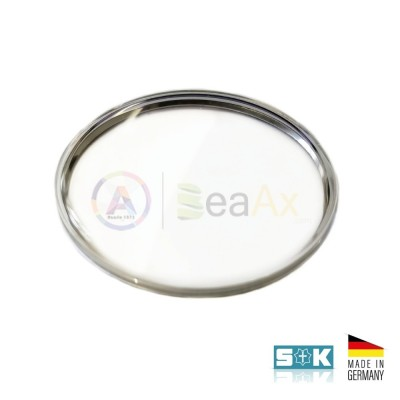 Plastic glass Omega PZ5123 steel ring aftermarket Sternkreuz XAC 330.553 Germany
