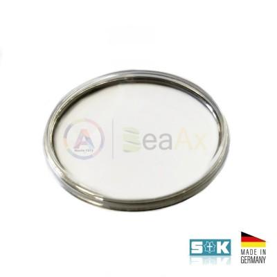 Plastic glass Omega 5137 5142 steel ring aftermarket Sternkreuz XAC 316.595 Germany