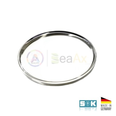 Plastic glass Omega Speedmaster PZ5077 steel ring aftermarket XAC 342.594 Germany