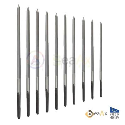 Assortimento di 10 alesatori pentagonali ø 0.90 - 4.00 mm in acciaio WS+ BeaAx