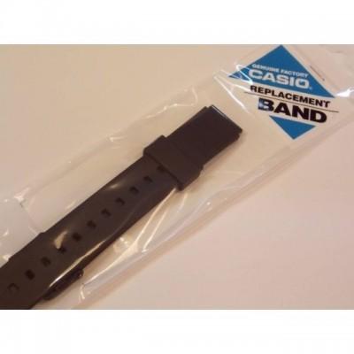 Cinturino originale Casio per orologio modello MQ-24 MQ-104 in gomma nero HB.MQ24
