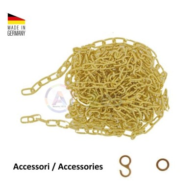 Catena di ricambio per cucù anello Int. 7.10 x Ext. 9.50 in ottone con accessori