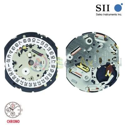 Movimento al quarzo Hattori YM62 cronografo con allarme Seiko-Epson