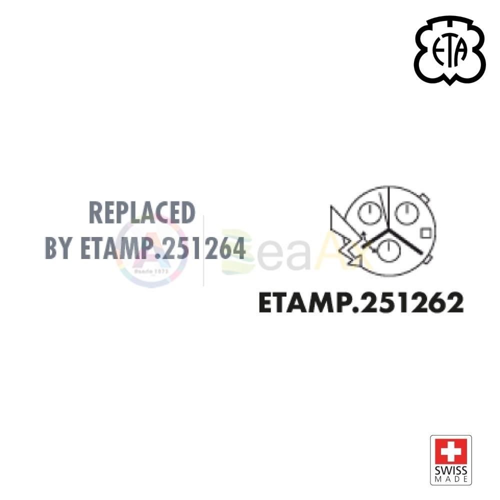 Movimento al quarzo ETA 251.262 cronografo con datario - Swiss Made ETA-251.262