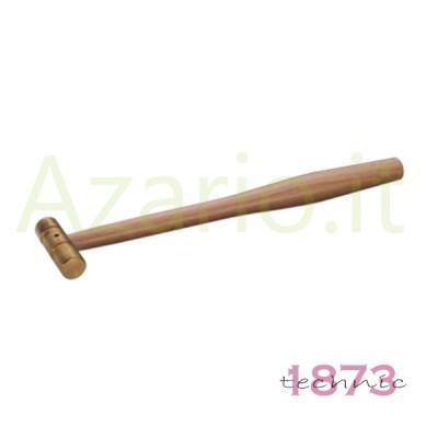 Martello manico legno testa ottone 50 g. orologeria orafo Hammer Brass Goldsmith
