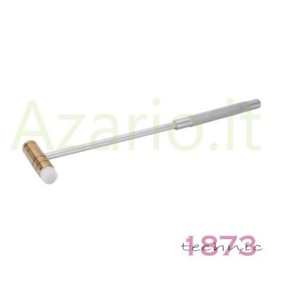 Martello ottone derlin 75 g orafo Brass and Fibre Mallet Alluminium Handle tools AG0964