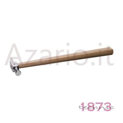 Martello manico in legno testa classica in acciaio 100 g per orafo ed orologiaio
