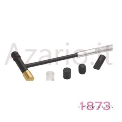 Martello acciaio doppia testa ottone plastica +4 accessori orafo Hobby Hammer AG0971