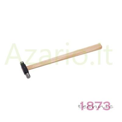Martello manico legno testa acciaio 55 g orafo incastonatori Hammer Ball Pein AG0969