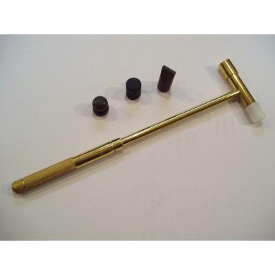 Martello ottone testa ottone plastica +3 accessori acciaio orafo hobby hammer