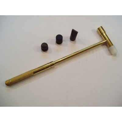 Martello ottone testa ottone plastica +3 accessori acciaio orafo hobby hammer AG0972