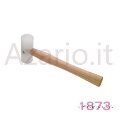Martello legno testa gomma battuta 18 mm 100 g orafo tools Plastic Mallet 1 1/2'