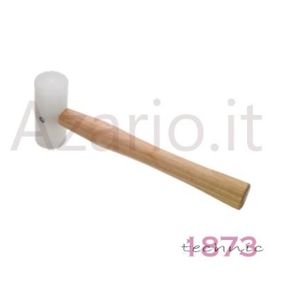 Martello legno testa gomma battuta 25 mm 185 g orafo tools Plastic Mallet 2'