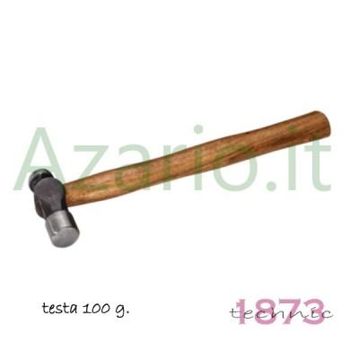 Martello manico legno testa acciaio sfera piana 170 g. Hammer Ball Pein handle