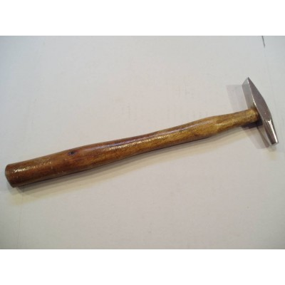 Martello manico legno testa doppia acciaio professionale 120 g orafo orologiaio AG0984
