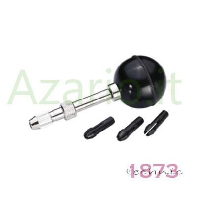 Morsetto pomolo corpo girevole doppio mandrino incisione foratura orologiaio AG1165