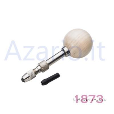 Pomolo in legno con corpo girevole in acciaio morsetto orologiaio orafo tools AG1166