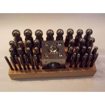 Imbottitori 36 pz imbottitoi acciaio bottoniera cubica 45 mm base legno orafi