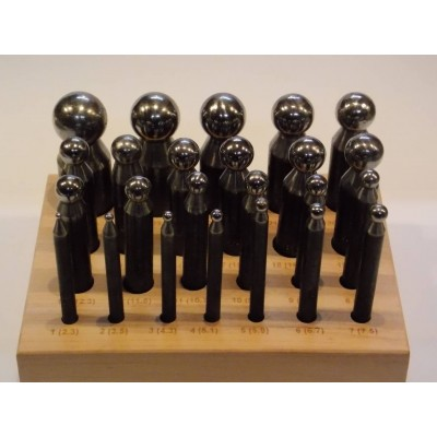 Imbottitori acciaio 24 pz alta qualità base legno High Quality Dapping Punch