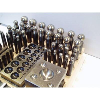 Imbottitori 36 pz imbottitoi 4 bottoniere base legno orafi Jumbo Dapping Die Punch Set