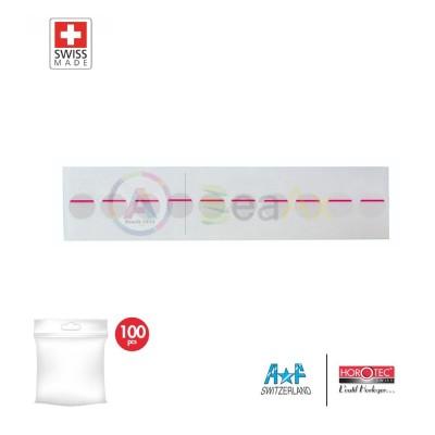 Adesivo di protezione per fondello con segno rosso - Confezione 100 pz.