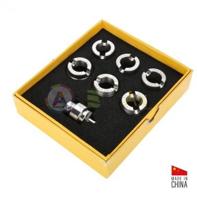 Assortimento 6 tasselli acciaio per aprire/chiudere fondi a vite Rolex e snodo