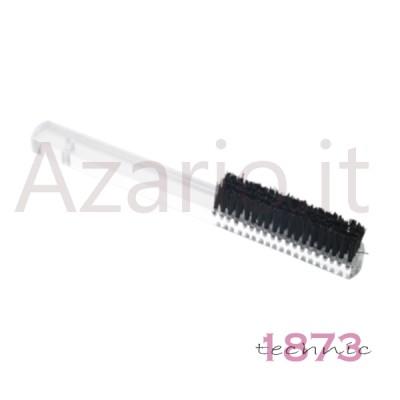 Spazzola a mano per lucidatura con manico in plexiglass setole sintetiche 4 file dure in nylon AG0278