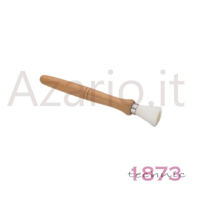 Hand brush for polishing with wooden handle synthetic nylon bristles