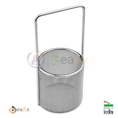 Cestello microrete manico vasca ultrasuoni 10 cm orafi orologiai Ultrasonic Bask