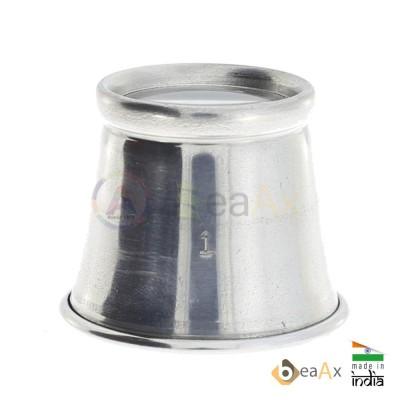 Monocolo da orologiaio semplice in alluminio con lente minerale ø 24 mm AG0691-S