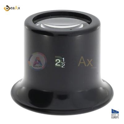 Monocolo da orologiaio BeaAx in plastica nera classico lente minerale ø 25 mm EU SLH507