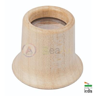Monocolo da orologiaio in legno di faggio BeaAx con lente minerale ø 20 mm AG0690-F