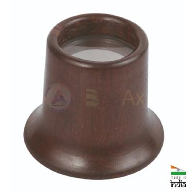 Monocolo da orologiaio in legno di rosa BeaAx con lente minerale ø 20 mm AG0690-R