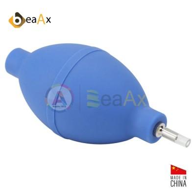 Soffietto in caucciù azzurro forma ovale con valvola metallica rivestita BeaAx