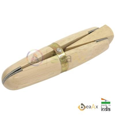 Morsetto in legno con cuneo, teste rivestite in pelle morbida lunghezza 150 mm
